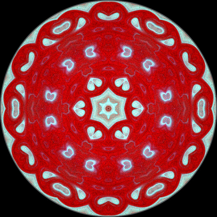 Red Mandala Kaleidoscope