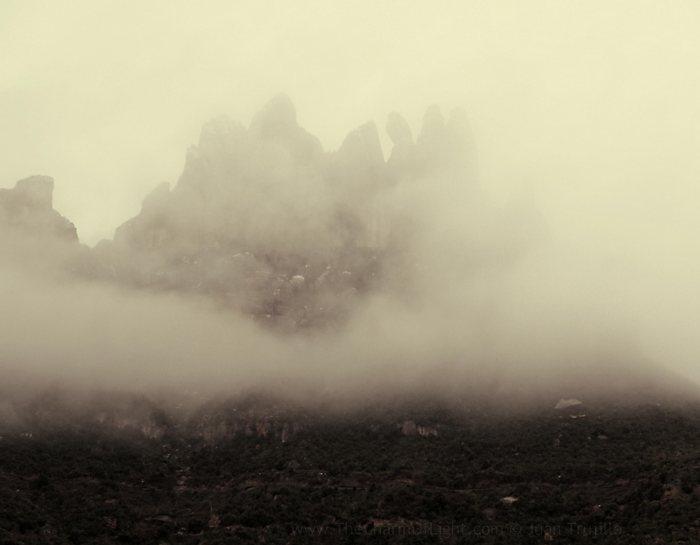 Montserrat in haze